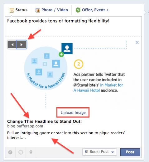 Facebook formatting
