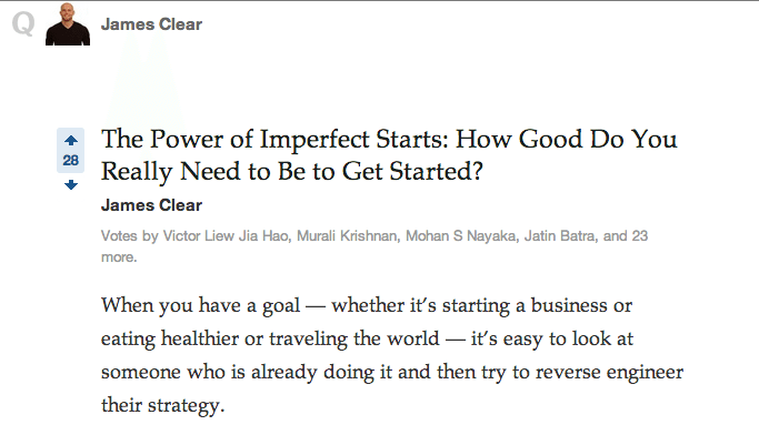 James Clear Quora