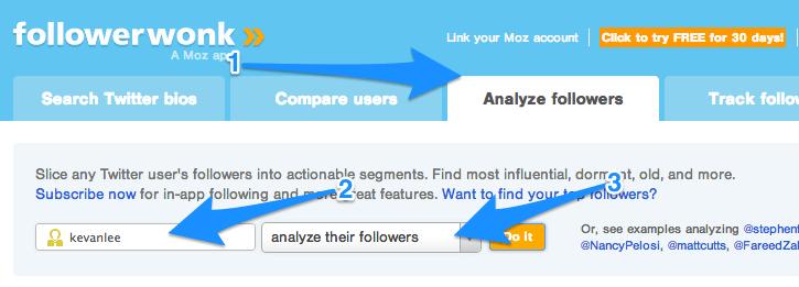 Followerwonk Twitter followers analysis