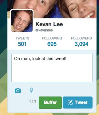 Twitter buffer