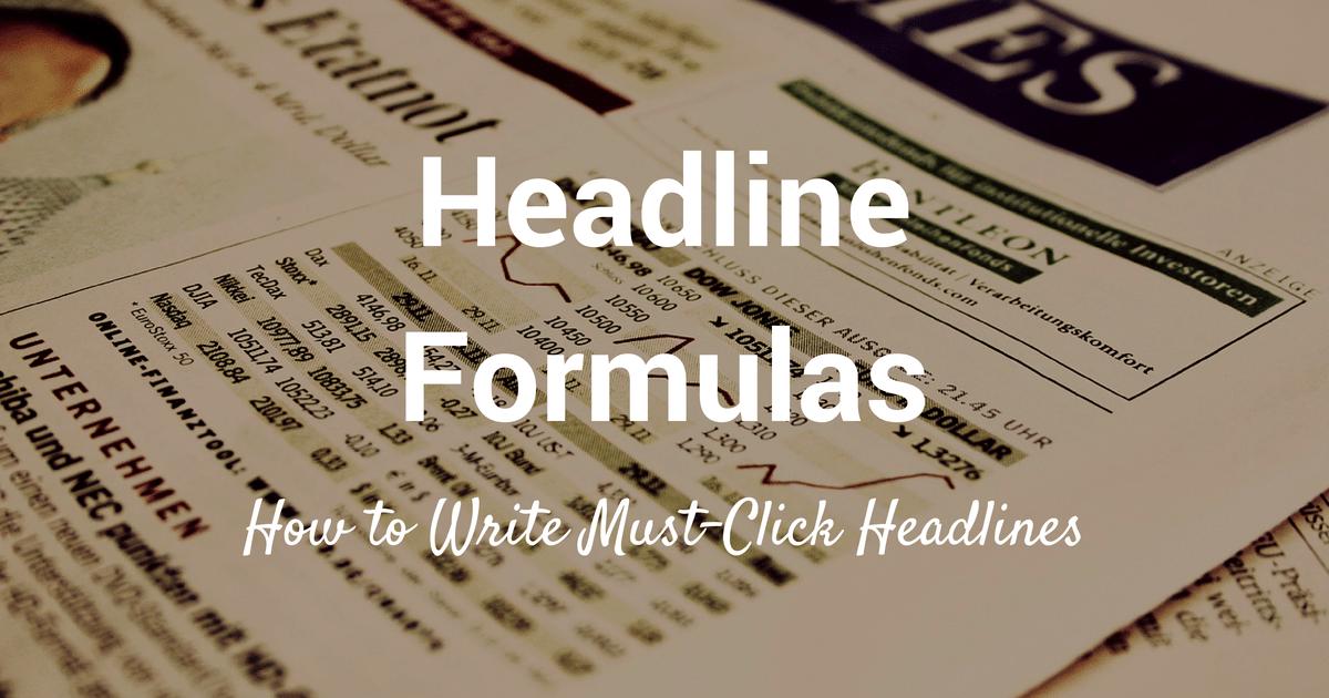headline formulas