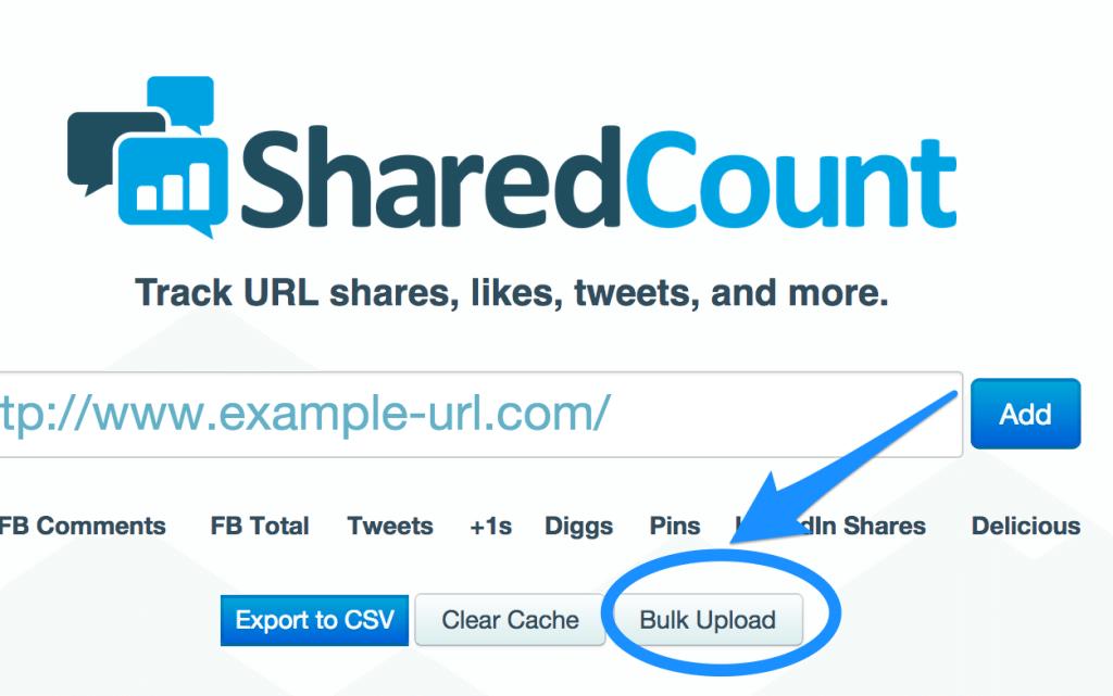 bulk upload shared count