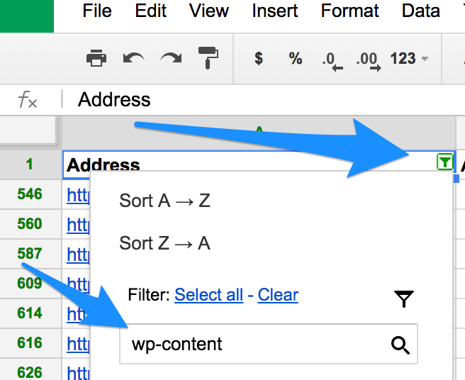filter wp-content