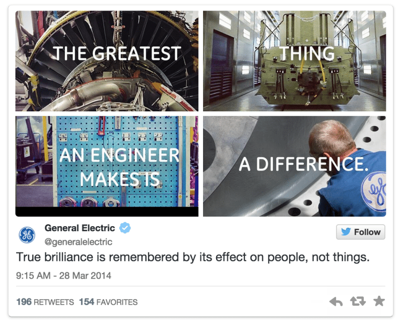 general electric photo collage twitter