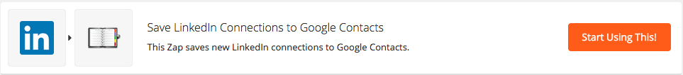 linkedin connections to google contacts zap