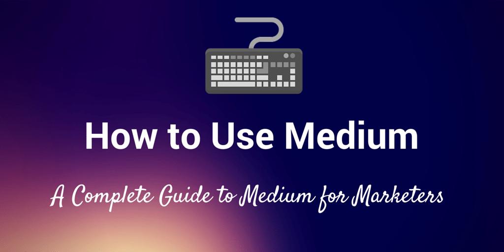 how to use medium