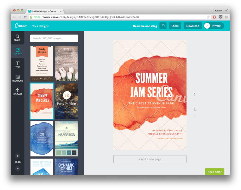Canva screenshot Pinterest
