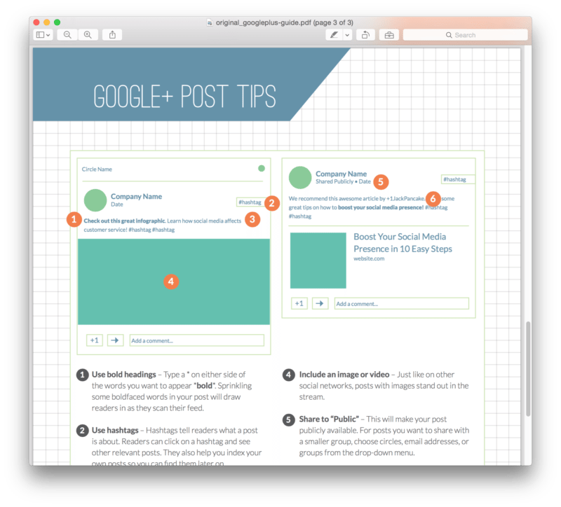 Google+ Tips from Short Stack