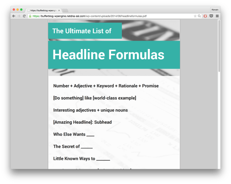 Twitter headline template