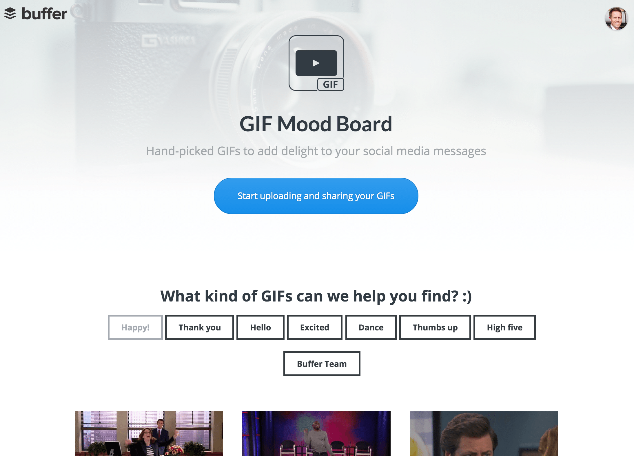GIF mood board