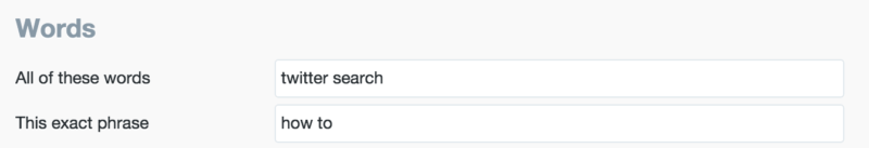 how to twitter search