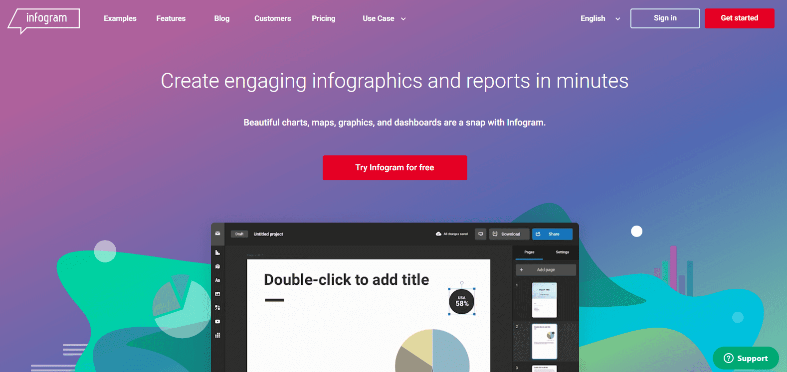 Infographic maker: Infogram