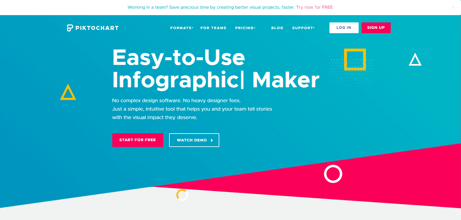 Infographic maker: Piktochart
