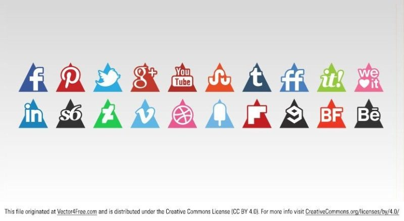 social_media_icons_triangle_set829