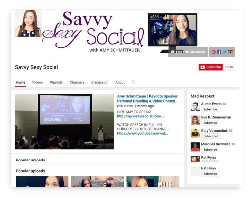 Savvy Sexy Social channel