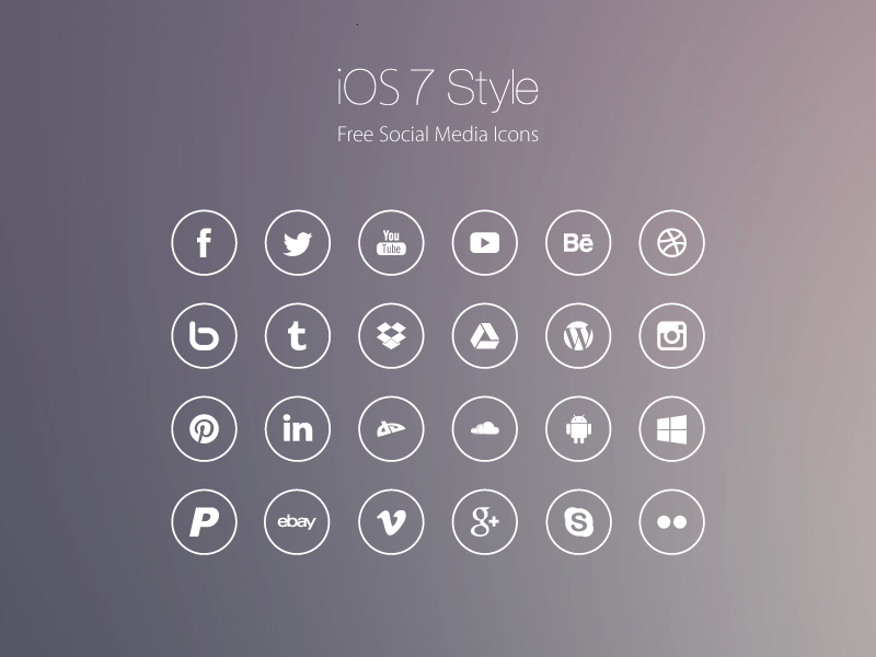 54 Beautiful Free Social Media Icon Sets For Your Website