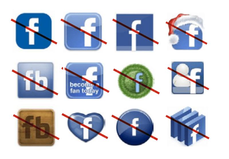 incorrect facebook logos