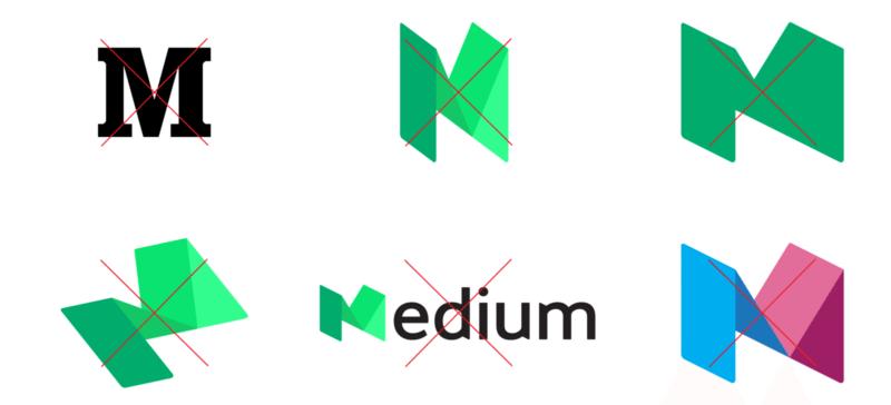 incorrect medium logos