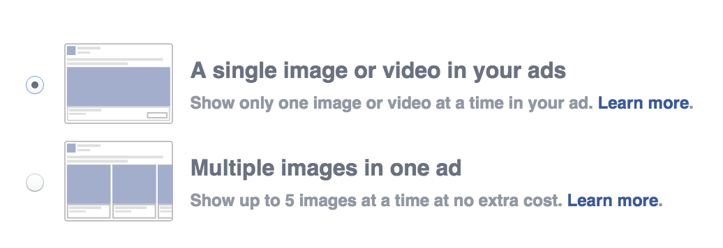 single image or ad