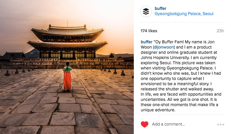Buffer, Buffer Instagram, User generated content, UGC, instagram growth, instagram