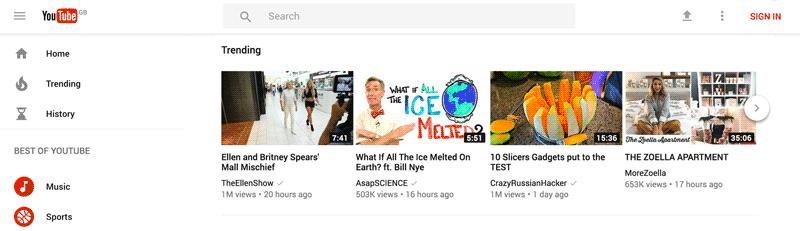 login no youtube