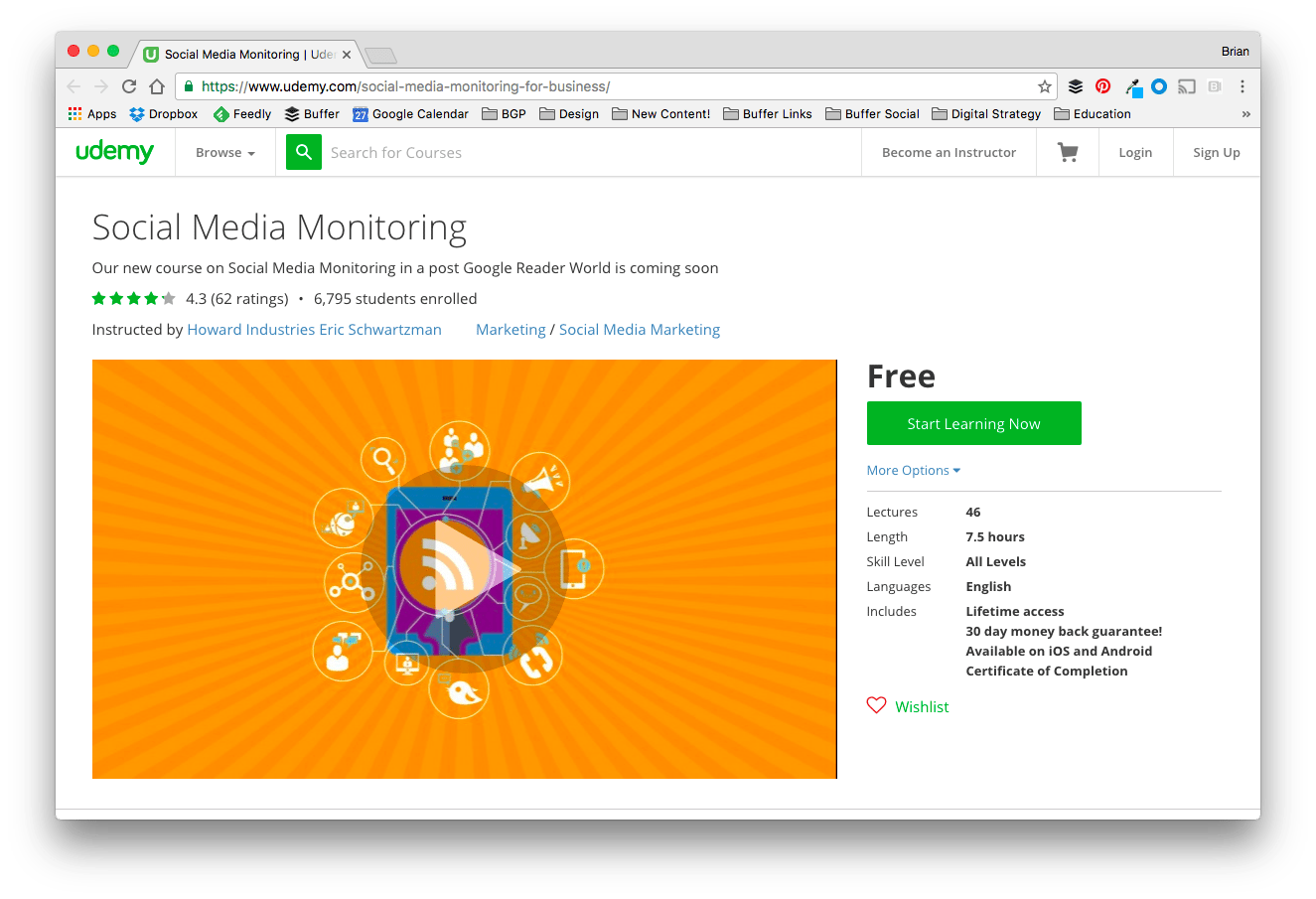 Social Media Monitoring with Coursera