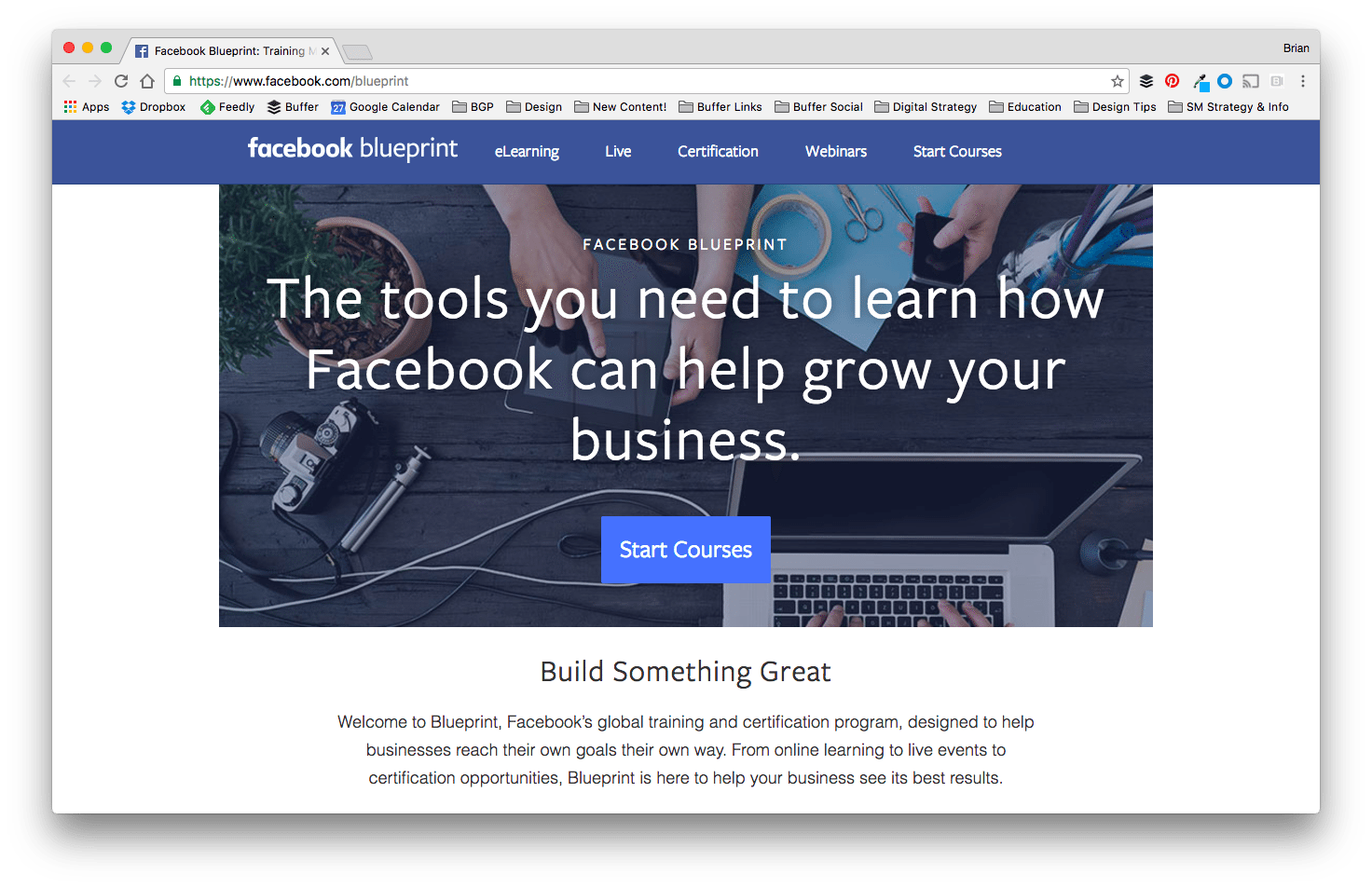 Facebook Blueprint Social Media Course