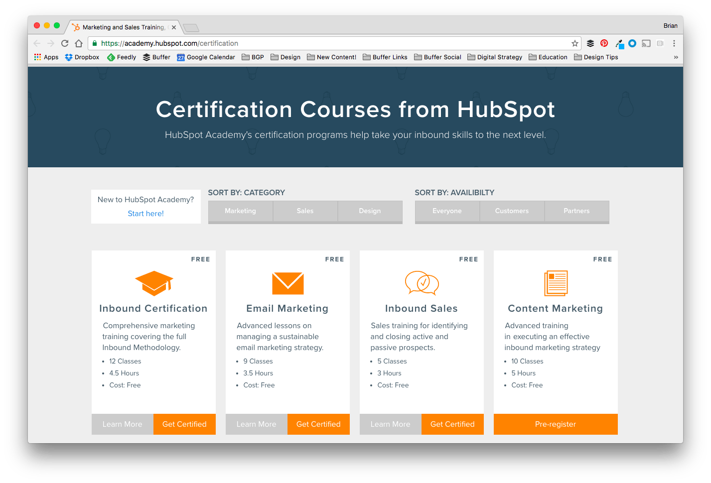 HubSpot Inbound Marketing Academy