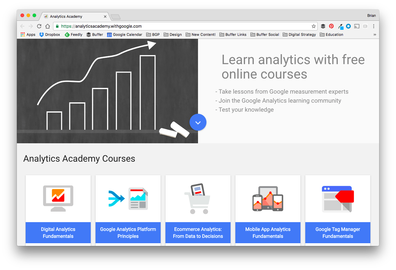 Google Analytics Academy, Social Media Classes