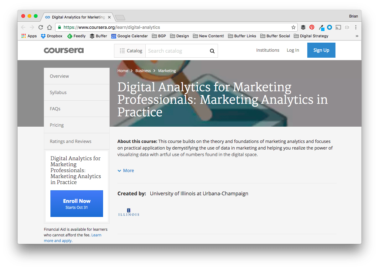 Digital Analytics for Marketing Professionals: Marketing Analytics in Practice