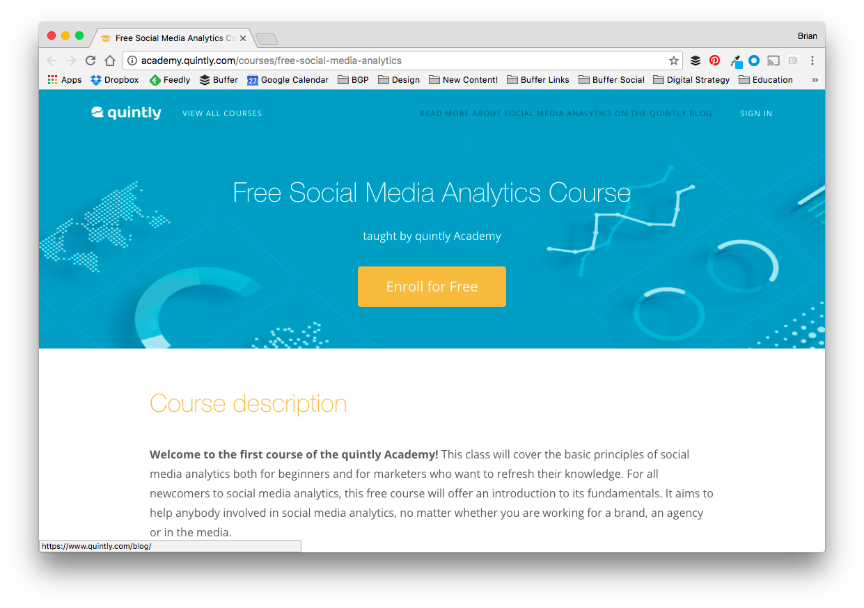 Free Social Media Analytics Course