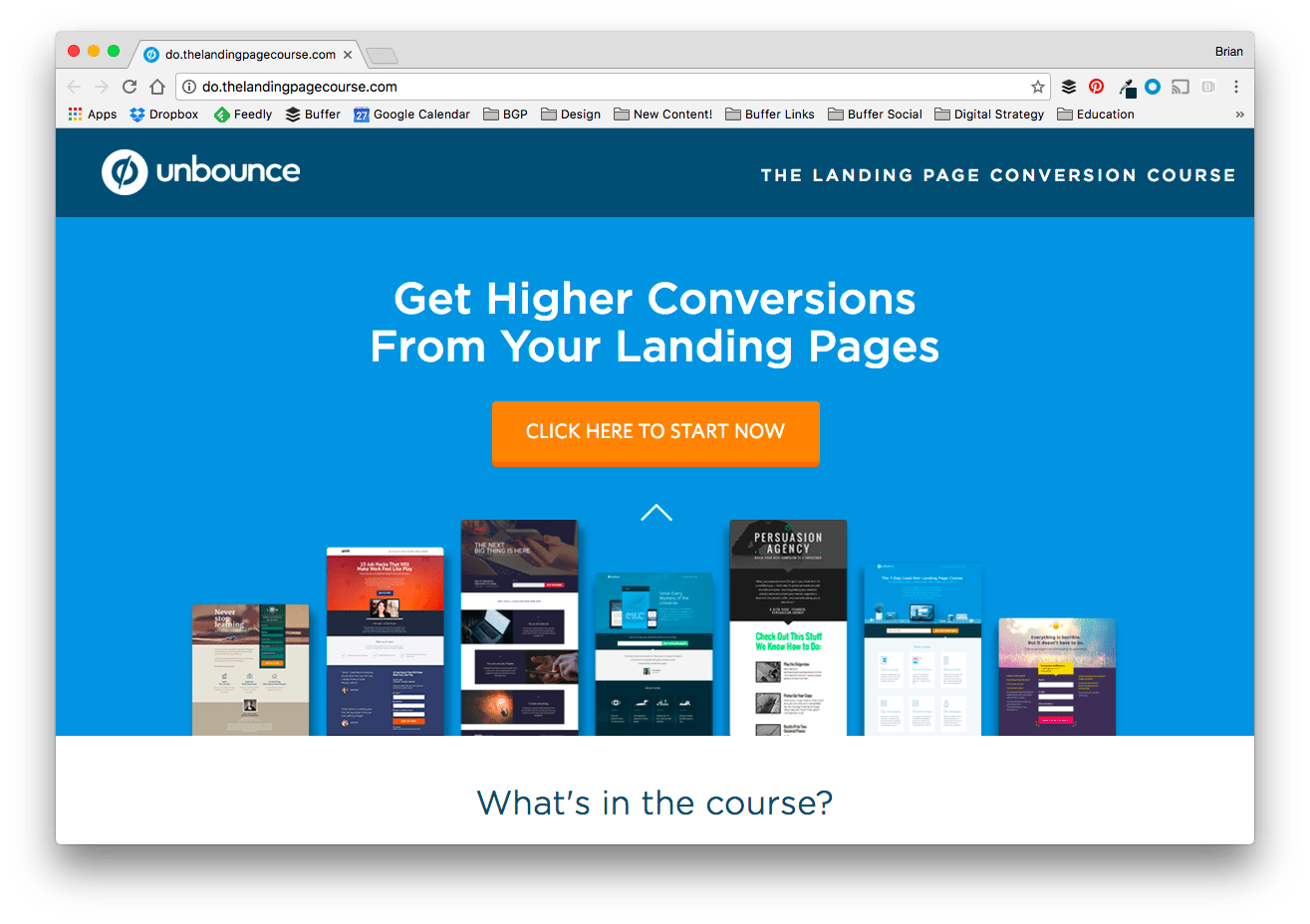 THE LANDING PAGE CONVERSION COURSE