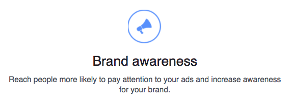 Brand awareness objective
