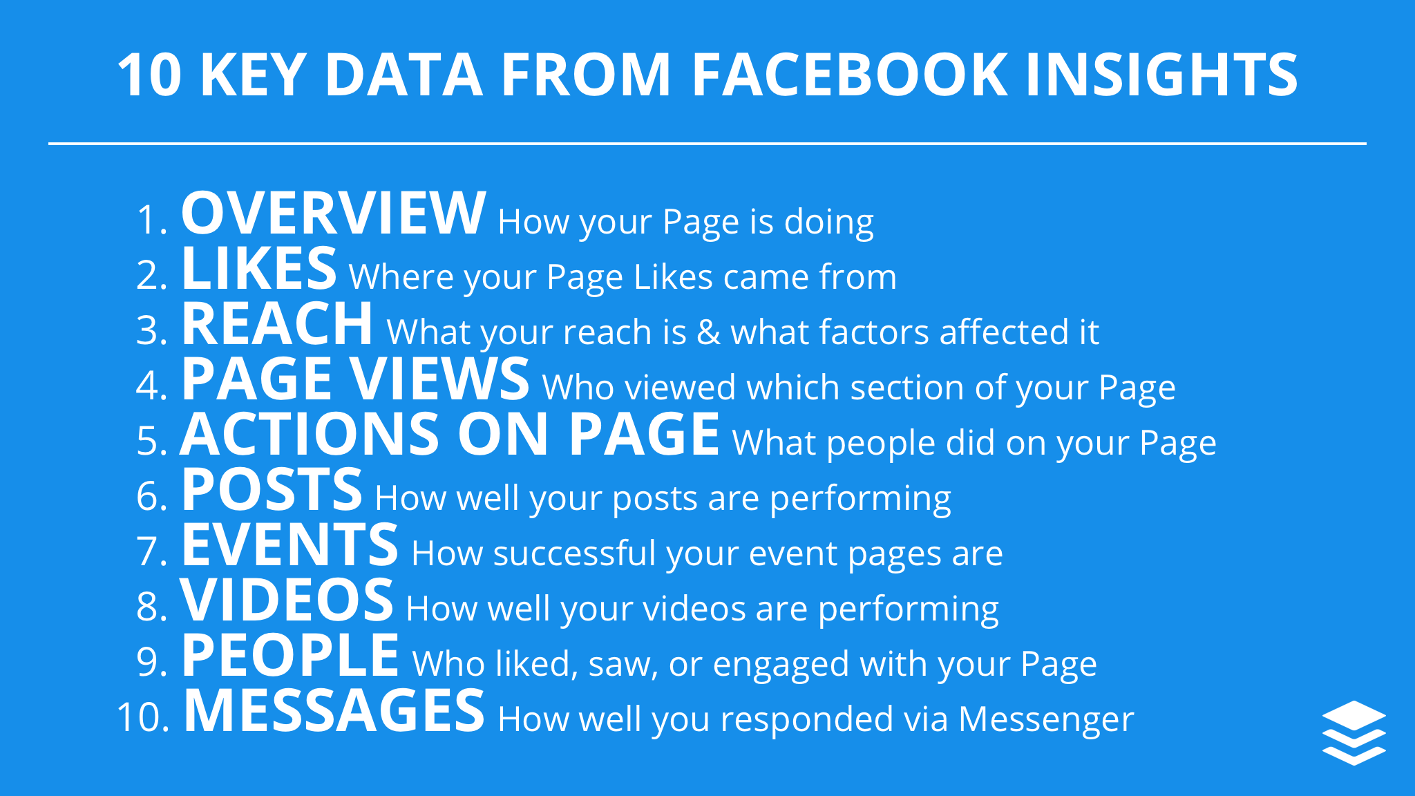 Facebook Insights Guide - 10 Data from Facebook Insights