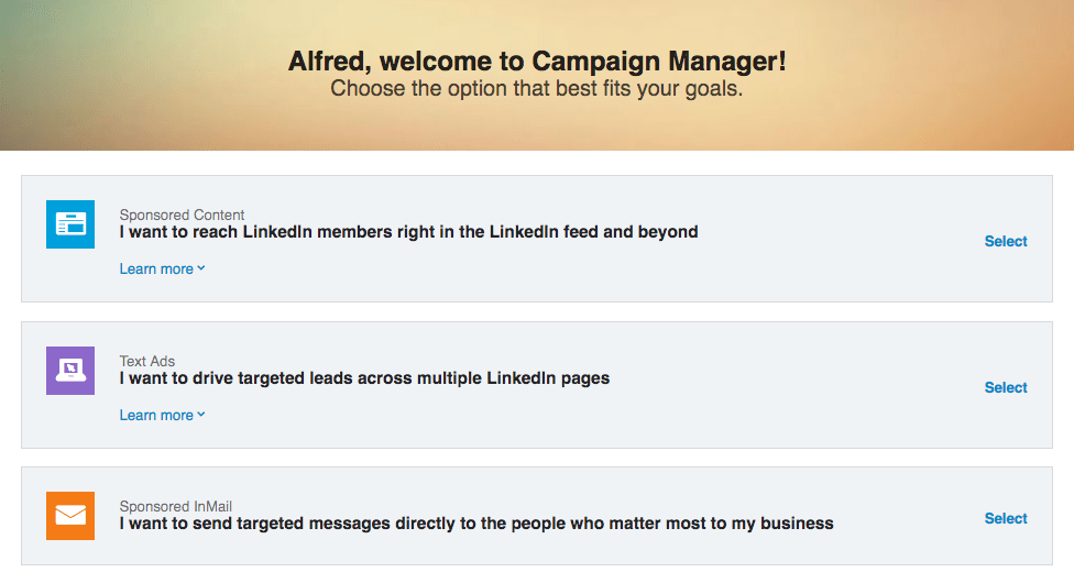 LinkedIn Ads Objectives