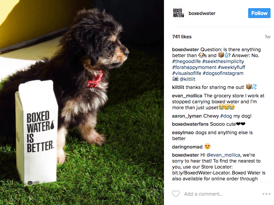 User-generated content by Boxed Water's customers