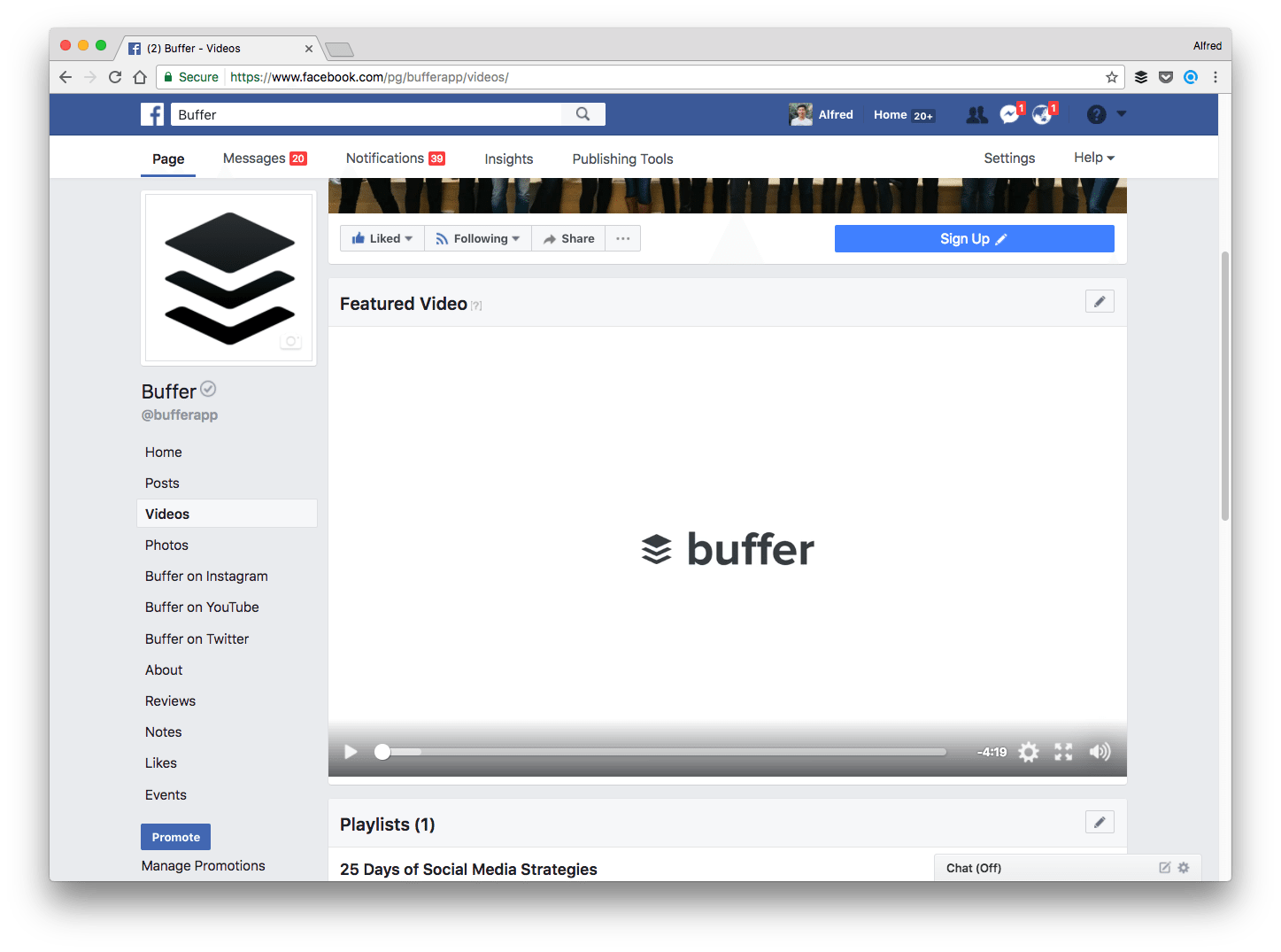 Buffer's featured video