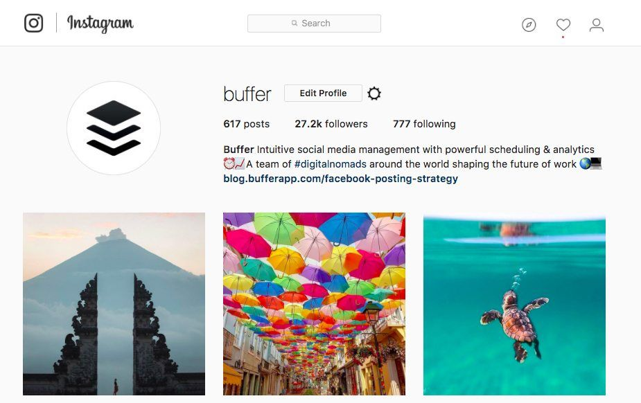 Buffer Instagram Profile