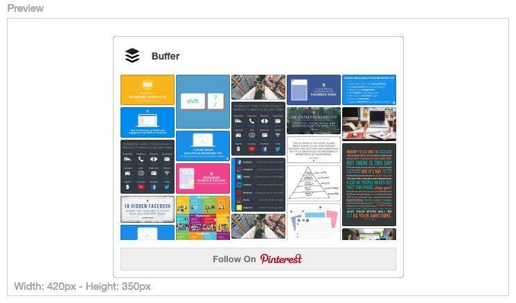 Pinterest Profile Widget Preview