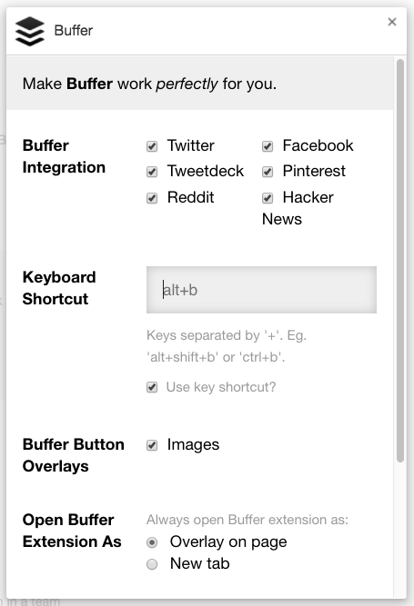 Buffer Keyboard Shortcuts