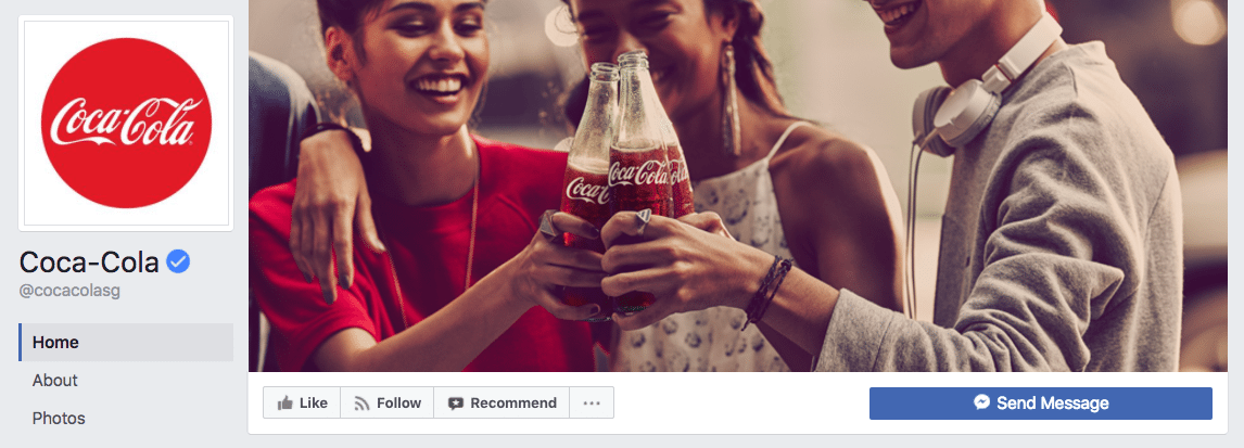Coca-Cola Facebook cover photo