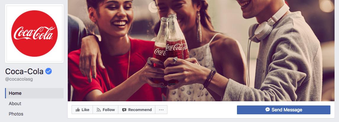 Coca-Cola Facebook cover photo