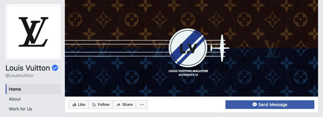 Louis Vuitton Facebook cover photo