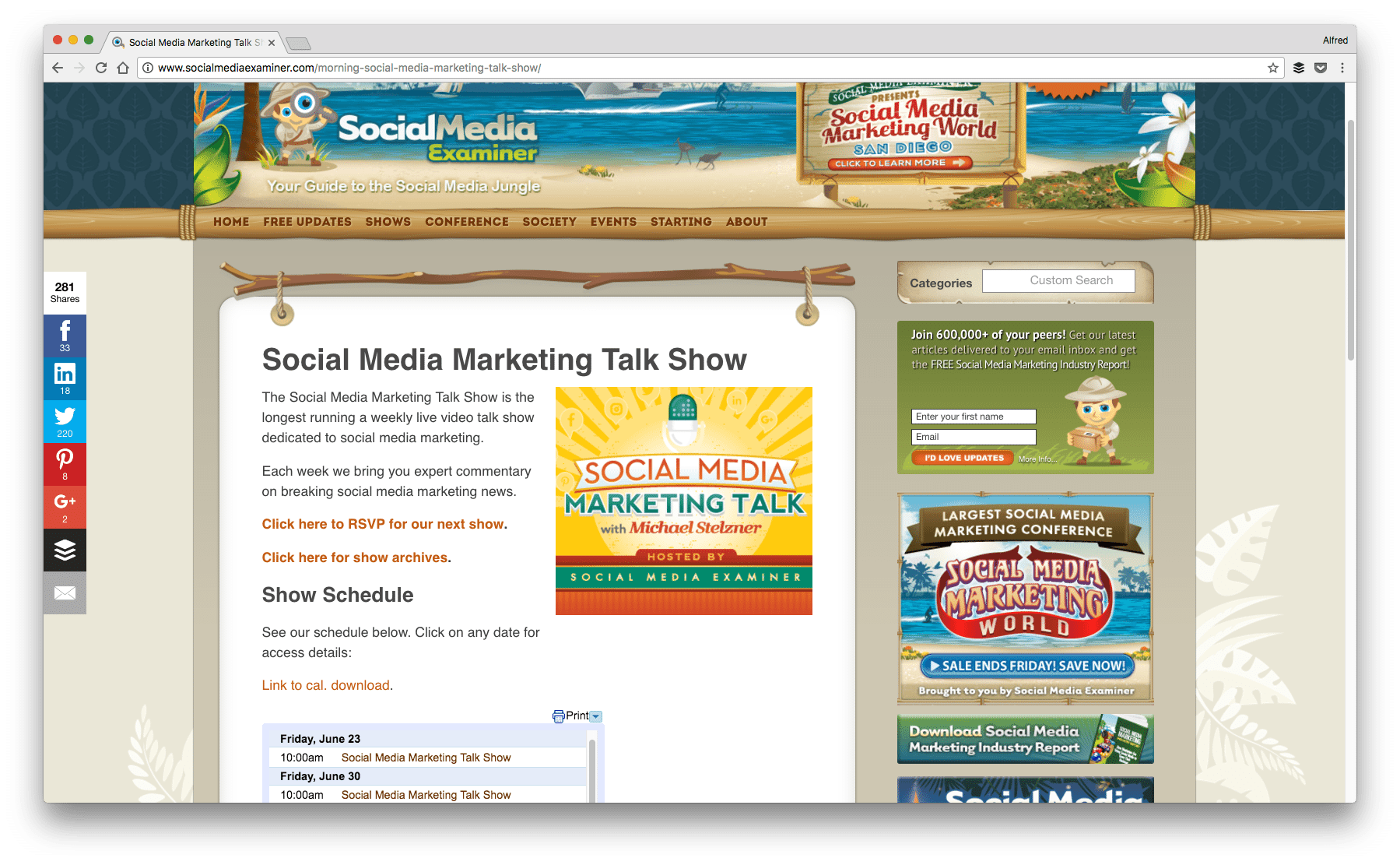 Social Media Marketing Talk Show