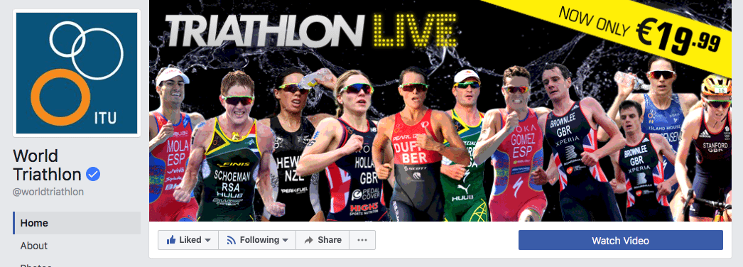 World Triathlon Facebook cover photo