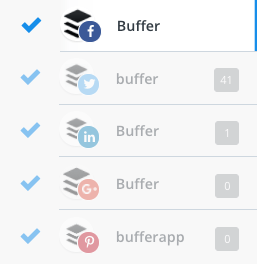 Multiple social media profiles in Buffer