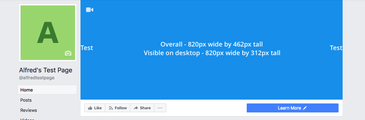 Facebook Page cover photo