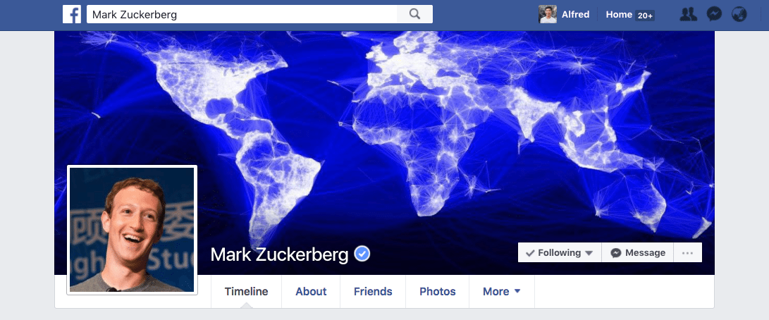 Facebook profile cover photo