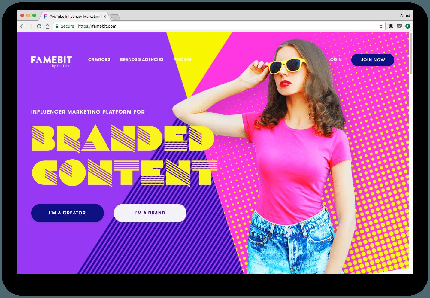 Influencer marketing platform - Famebit