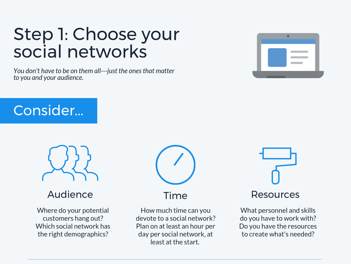 Step 1: Choose your social networks